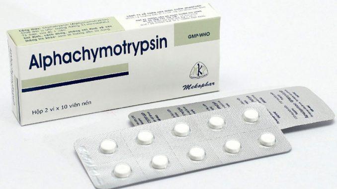 alphachymotrypsin là thuốc gì